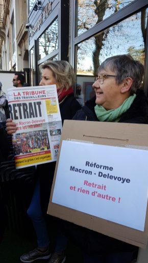 Saint-Etienne, avec les manifestants.