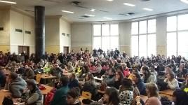 5 décembre, Assemblée générale massive des enseignants à Lyon