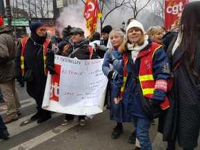 Dans la manifestation parisienne du 5 décembre