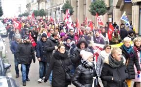 Rouen, ce 5 décembre, un cortège de 7 kilomètres de long...