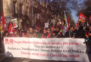 Villeneuve-Saint-Georges - Tête de la manifestation du 5 décembre