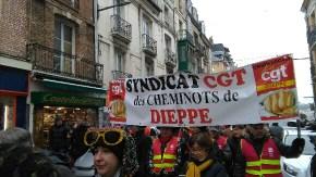 La manifestation à Dieppe.