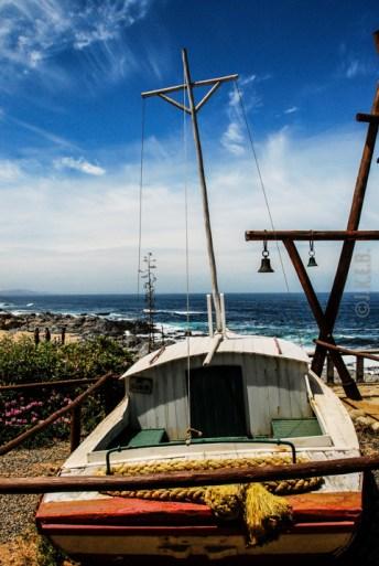 Στον εξωτερικό χώρο της Casa del Isla Negra
