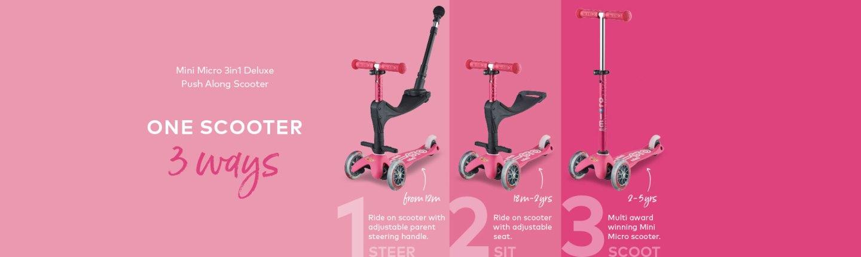 3in1 Mini Micro Scooter configurations