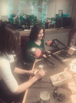 Promoting with Endeavor Arts on CBC Radio - Drawing one of the Radio Hosts