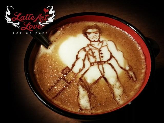 Latte Art Love - Ash Williams of Evil Dead