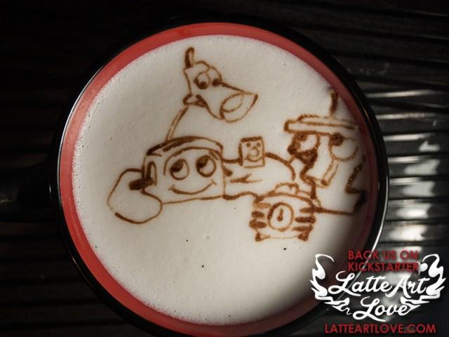 Latte Art - The Brave Little Toaster & Friends