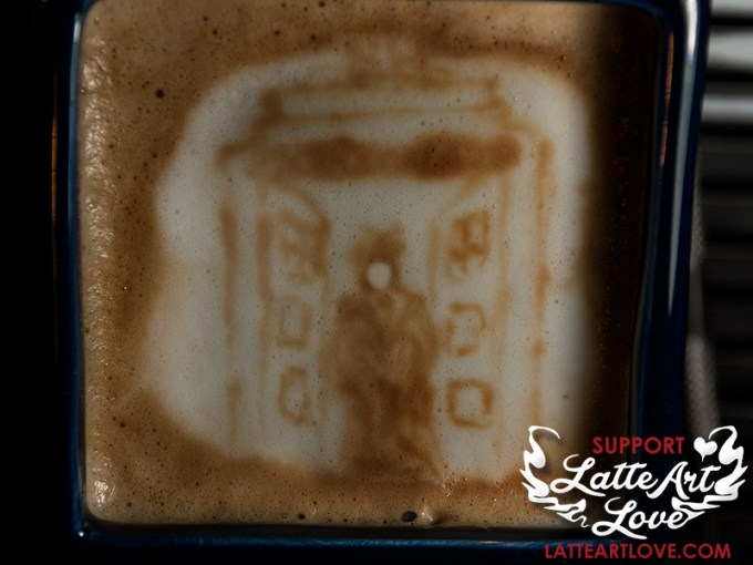 Latte Art Love - 10th Doctor Who