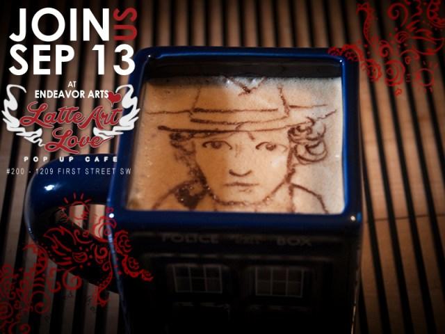 Latte Art Love - Tom Baker as the Fourth Doctor Who