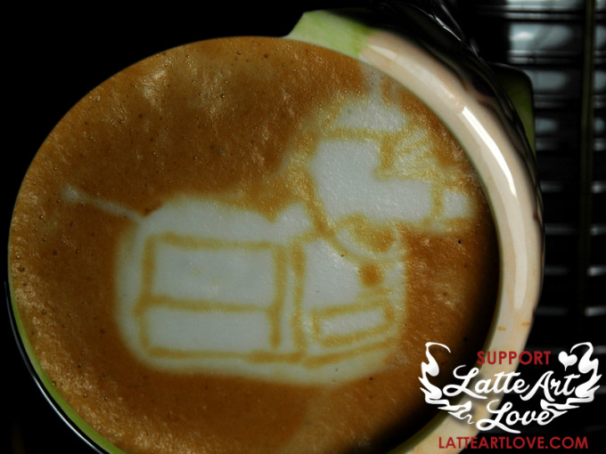 Latte Art - Doctor Who - K9