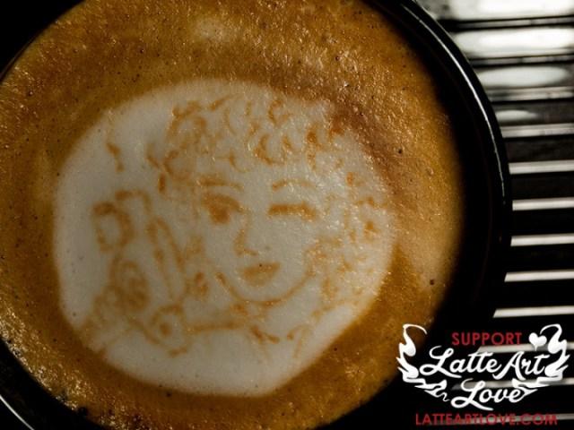 Latte Art - Doctor Who - Professor River Song