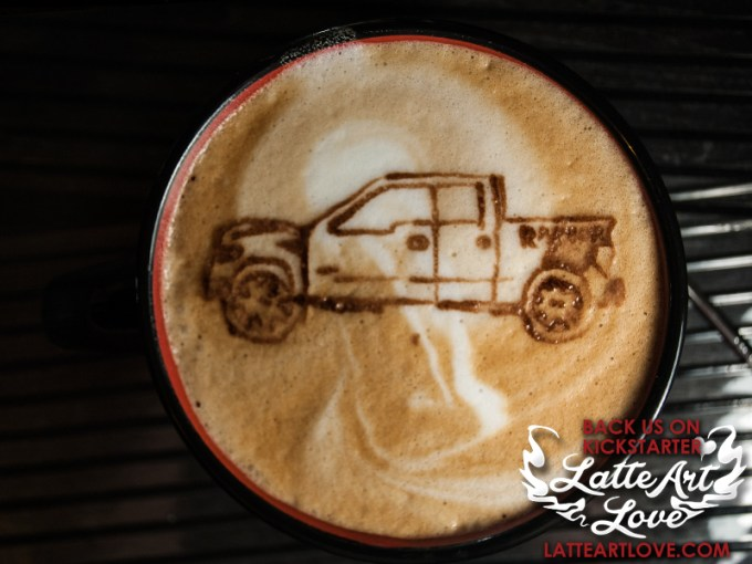 Latte Art - Ford Raptor