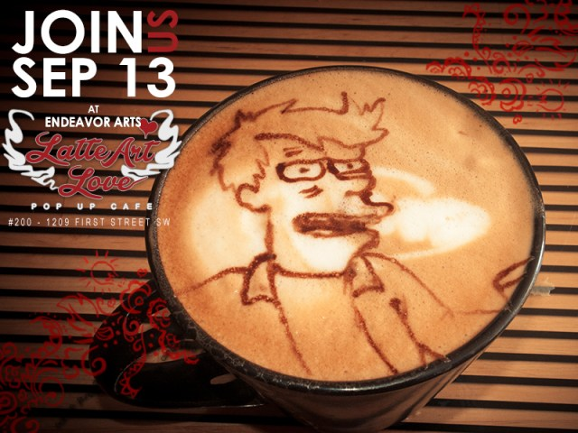 Latte Art Love - Futurama