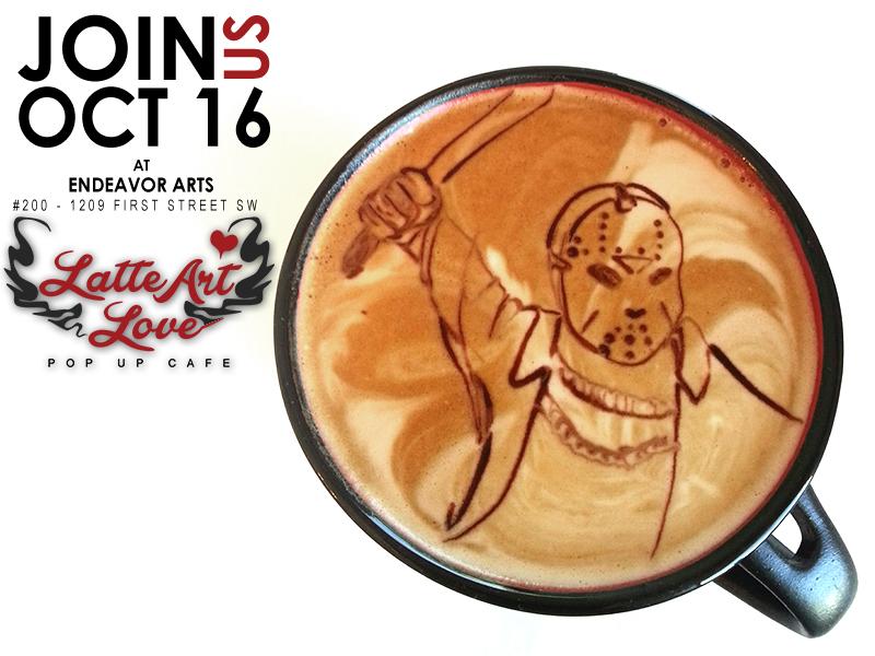 Latte Art Love - Friday the 13th - Jason