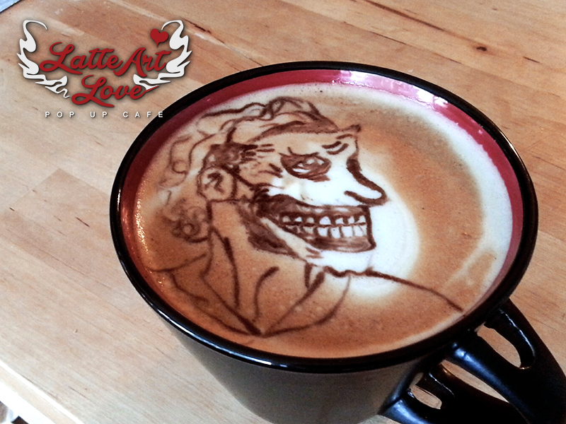 Latte Art Love - Joker
