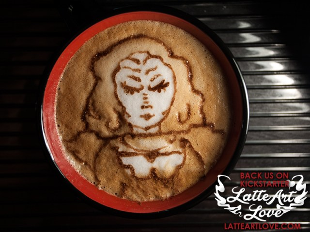 Latte Art - Klingon Female