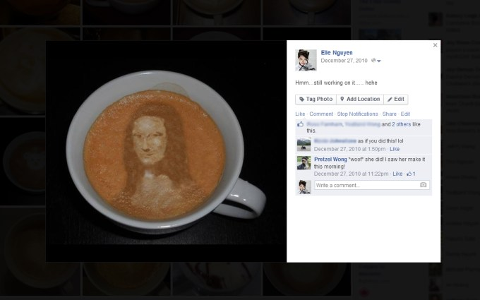Latte Art - Mona Lisa