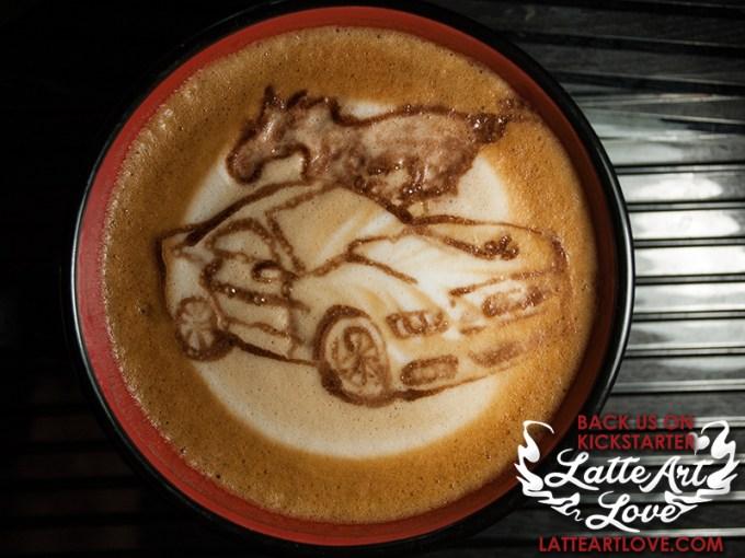 Latte Art - 2015 Mustang