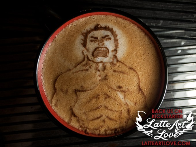 Latte Art - The Hulk