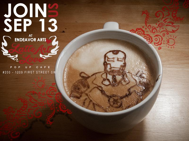 Latte Art Love - Iron Man
