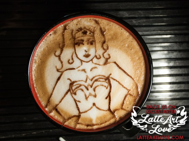 Latte Art - Wonder Woman