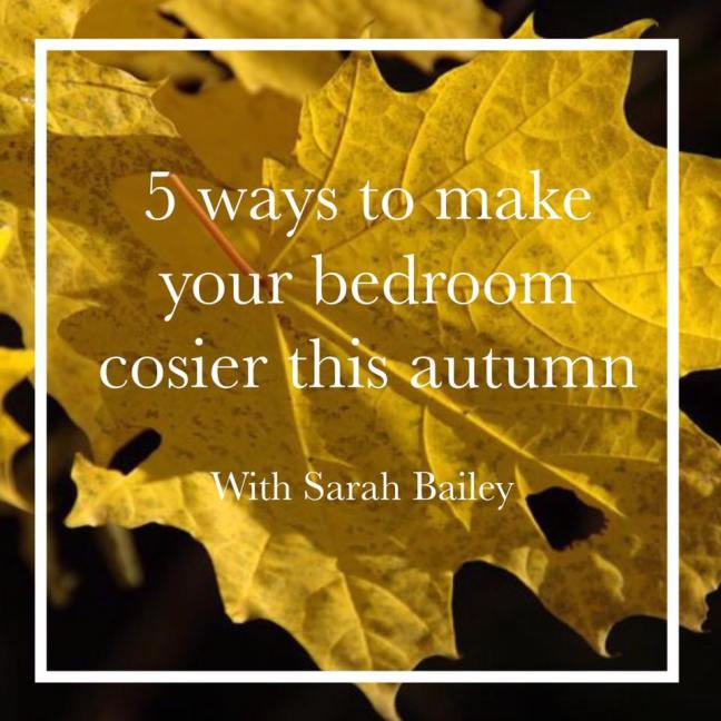 make your bedroom cozy in autumn
