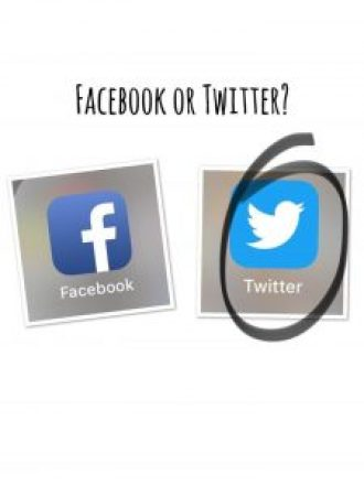 Facebook or Twitter