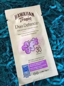 Hawaiian Tropic || Duo Defence Sun Lotion SPF 30 \\ Glossy Box July 2018