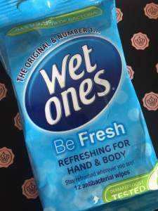 Wet Ones || Be Fresh Antibacterial Wipes || Glossybox September 2018
