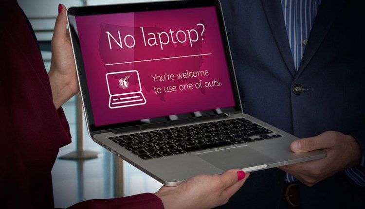 Qatar Airways is the only airline to offer passengers a replacement laptop