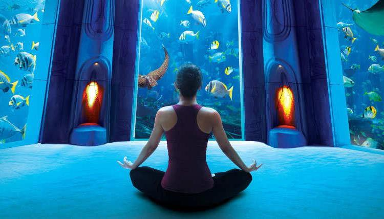 The first 'underwater' yoga class in Dubai opens at Atlantis, The Palm