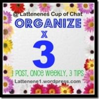 Organize X 3 - Decorated Cardboard Storage