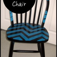 Chevron Stripe Painted Chair