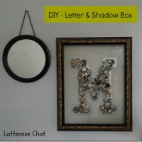 DIY–A Letter, Buttons & Shadow Box, Oh My!