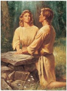 Adam-and-Eve-Kneeling-at-Altar-Praying
