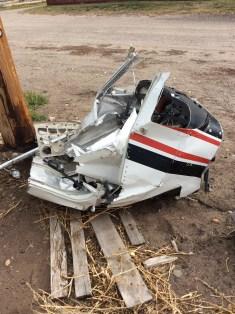 A desecrated plane we found