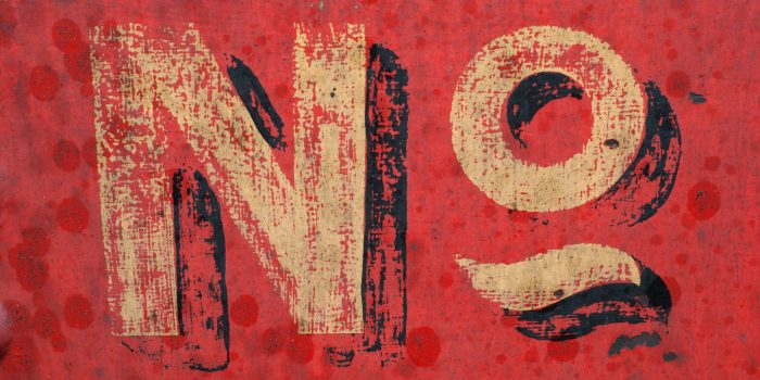 """""""No"""" on red background"""