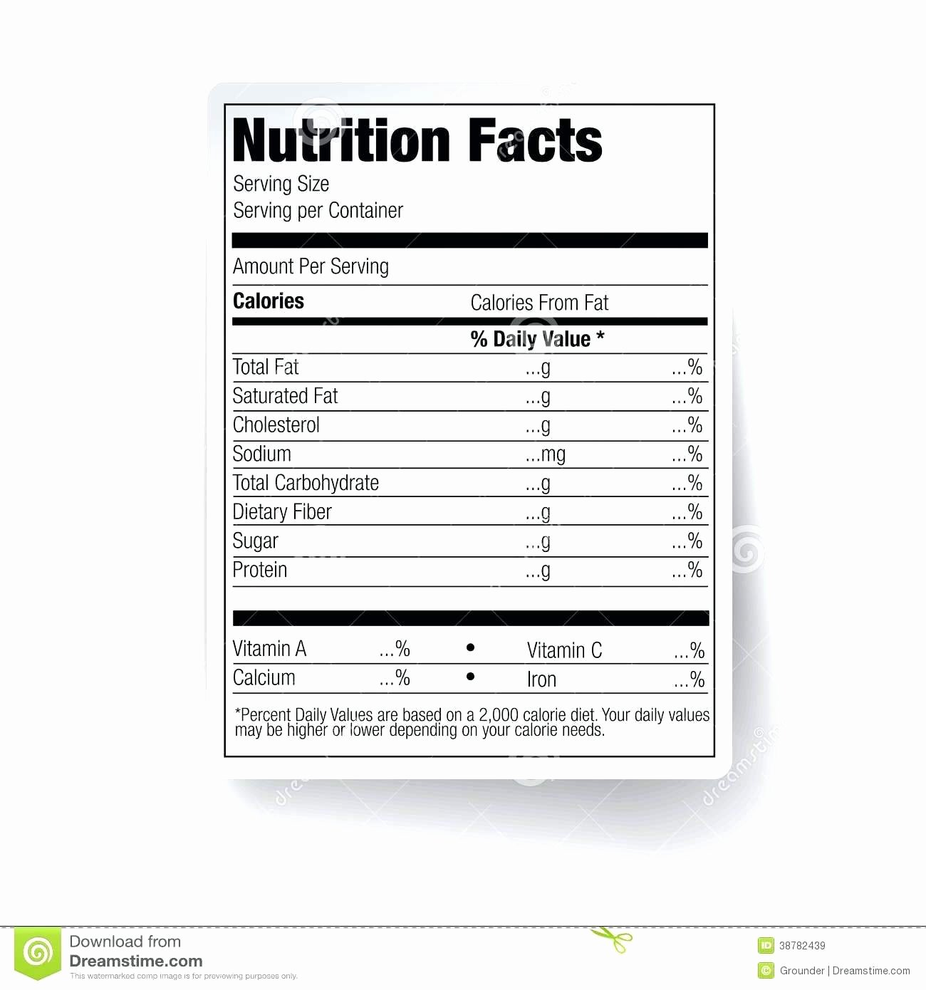 Nutrition Fact Label Maker Nutrition Ftempo Latter