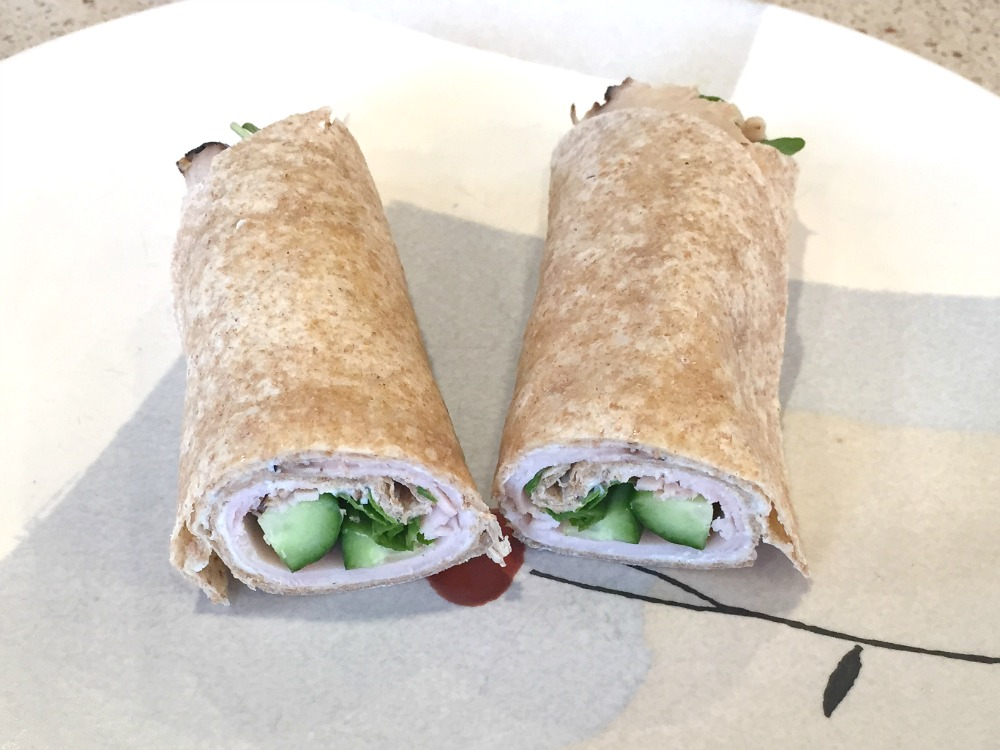 Simple Turkey Cheese Wrap