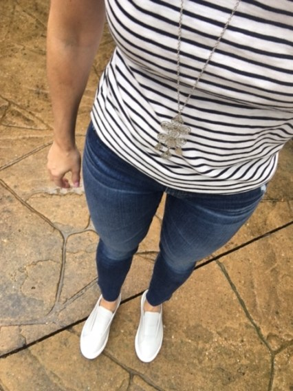 stripes tee ag denim jslides