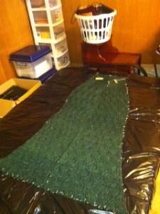 shawl blocking