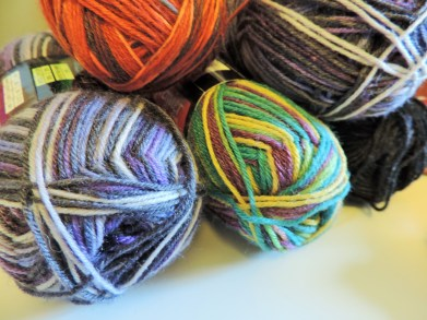 sock yarn for hexipuffs