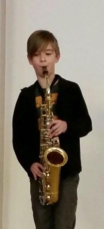 Josh and his precious saxophone