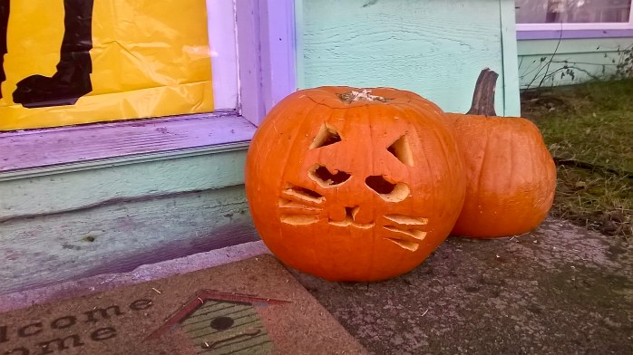 Halloween Kitty Pumpkin