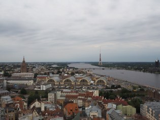 Riga Central markets (Centrāltirgus), view from the St. Peter's church