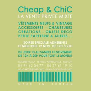 cheap and chic vide dressing toulon novembre 2014