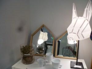 miroir maison bois photophores animaux rose de jericho