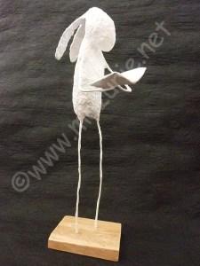 sculture lapin livre mazurié