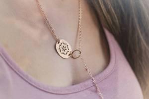collier doré ethnique mystère et bulles d'amour