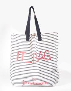 it bag rayé stradivarius